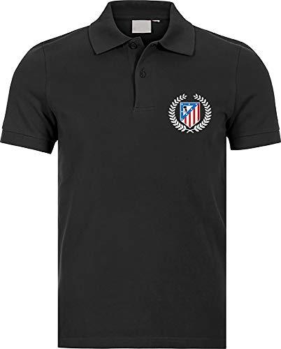 Polo Polo Atlético de Madrid Corona Camisetas del Atleti Colchoneras Rojiblancos ATM