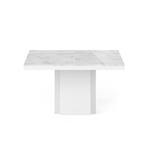 Paris Prix - Temahome - Table De Repas Dusk 130x130cm Marbre Blanc