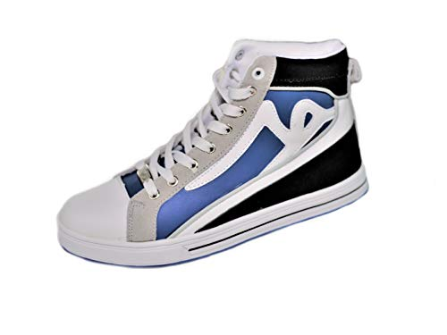 REDRUM Sportswear - Zapatillas de deporte unisex para hombre, callejero, baloncesto, tamaño mediano, color negro y azul, color Negro, talla 42 EU