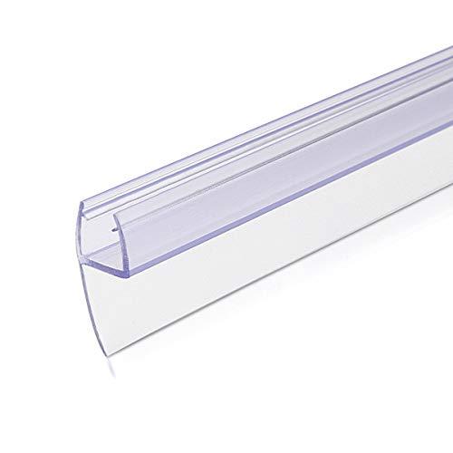 Navaris Schwallschutz Duschdichtung Duschkabine 180° - für 8mm dicke Glas Duschtür - Dichtung Glastür Dusche - Ersatzdichtung Glasdusche 100cm