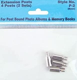 Pioneer Albums Bulk Buy Screw Post Extenders for Postbound Pioneer Albums 4 Posts Pack (2 Sets) P2 (6-Pack)