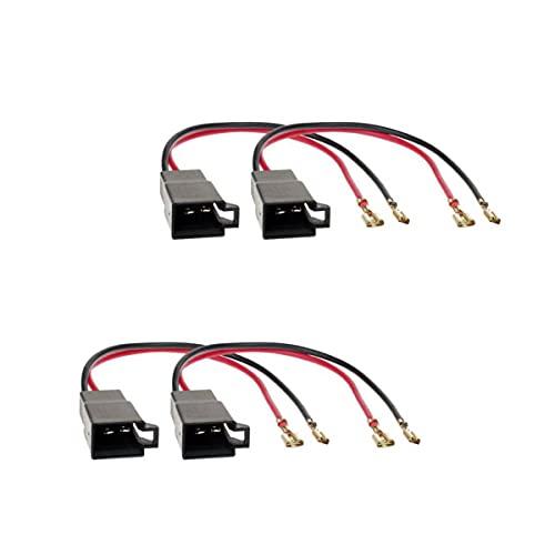 Audioproject A202-20 – 4 adaptadores de altavoces de coche compatibles con Audi, Dacia, Citroen, Peugeot, Opel, Renault, Seat, Skoda, Volvo, VW en conector DIN