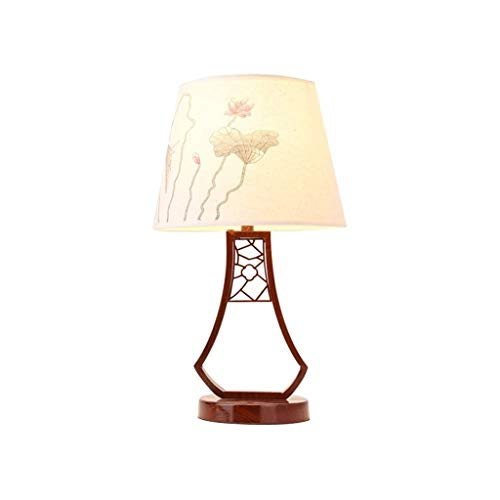 JYDQM Flor Blanco Pintura de Noche o Mesa Lámpara Oriental de colección Hecha a Mano de la Vendimia de iluminación for la decoración casera