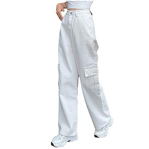 Neu Modische Damenhose Freizeithosen NäHen Jeans mit hoher Taille und weitem Bein gerade Jeans Freizeithose Vintage Style Schlagjeans Hose