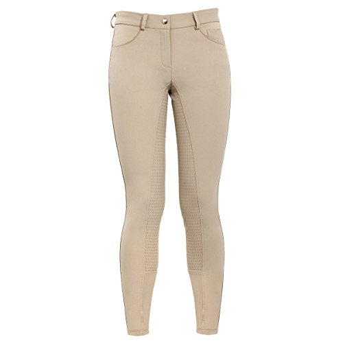 HR Farm Women's Full Seat Silicone Grip Breeches Horse Riding Jodhpurs (Beige, 28)