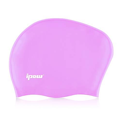 Ipow Gorros de natación de silicona de alta calidad gorro de ducha...