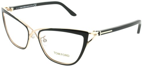 Tom Ford Women's Eyeglasses TF5272 5272 005 Black/Rose Gold Optical Frame 53mm