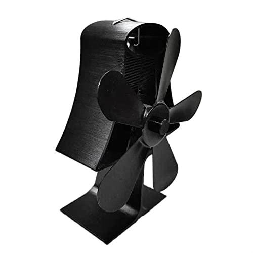 Soplador de chimenea 5 cuchillas de la estufa de calor de la estufa de aluminio aluminio de la chimenea de aluminio Montado en la pared de la pared que se quema de madera silenciosa para la habitación