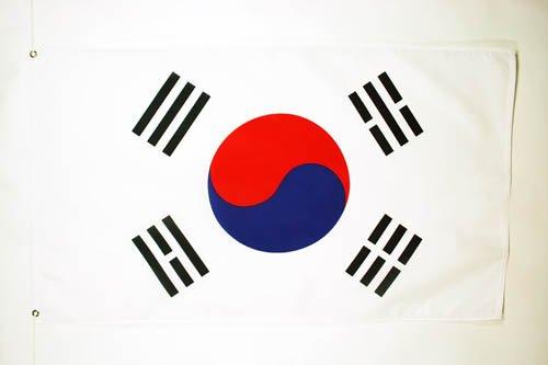 AZ FLAG Flagge SÜDKOREA 90x60cm - KOREANISCHE Fahne 60 x 90 cm - flaggen Top Qualität