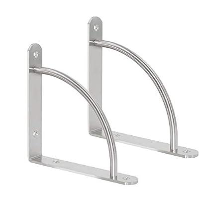 WEBI Stainless Steel Corner Braces, L Shaped Right Angle Brackets, Joint Fastener, Shelf Support