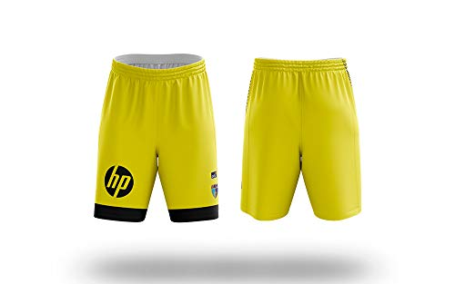 Movistar Estudiantes 8436588620217 Pantalón Short, Amarillo, Talla XL Unisex-Adult