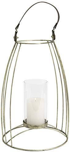 Amadeus Photophore Lanterne en métal doré Albi 25 x 53 cm