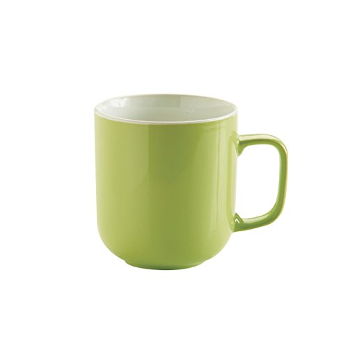 Price & Kensington - Tazza, 0,4 l, colore: nero , Brights Green [Lingua Inglese]