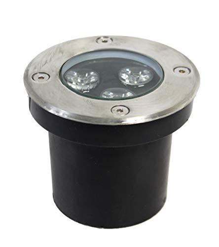 Vetrineinrete® Faretto incasso segnapasso 3 led 3 watt calpestabile Luce bianca 6500K giardino luce da esterno vialetto illuminazione esterni IP65 B41
