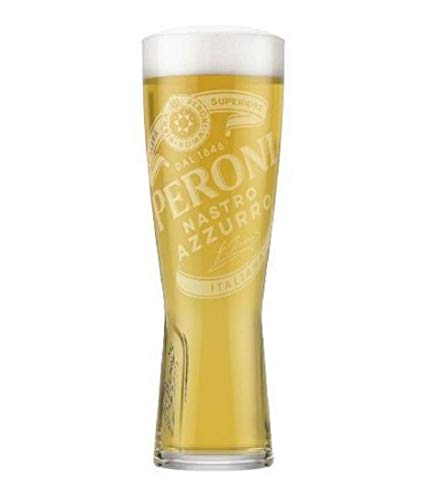 Verre à bière « Signature » de Peroni - Verre trempé en relief et nucléé