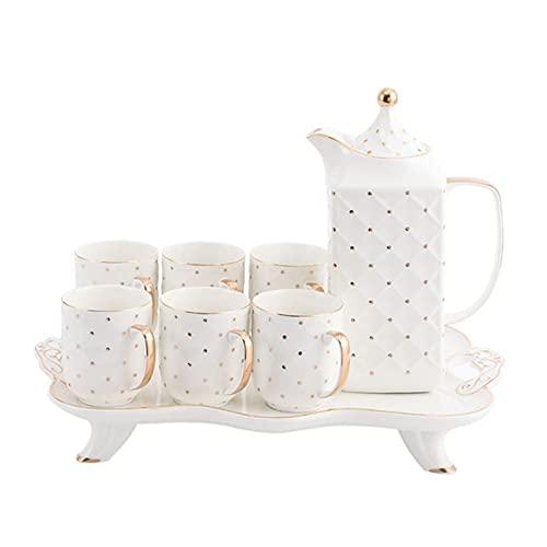 Nueva taza de cerámica de la tarde de la flor de la taza de té Set pintado a mano taza de cerámica