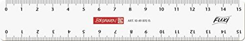 Brunnen 104987015 Flexi-Lineal (für Schule und Büro 15 cm, unzerbrechlich, glasklar, für Links- und Rechthänder)