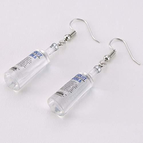 Known Creativo Cool Vodka Bottle Orecchini Colgante Diverente Stile di Bere Cartone Animto Bottiglia trasparente Orecchini colgante por Le Donne