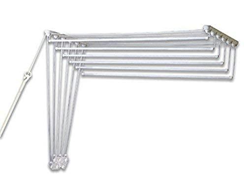 Gimi Lift 120 Tendedero de pared y techo de acero, 7 m de longitud de tendido, color blanco
