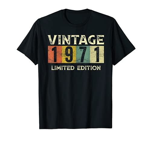 Vintage 1971 Limited Edition Gift 50th Birthday T-Shirt
