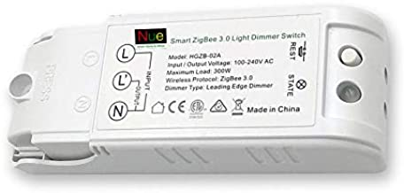 AU/NZ Approved Smart ZigBee in-ceiling light dimmer for upgrading normal lights and switches to Wireless Home Automation Google Home Amazon Echo Dot Echo Plus Alexa Voice Lighting Control, Compatible with Nue ZigBee Bridge and SmartThings Hub