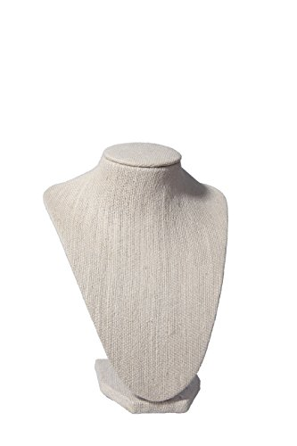 Busto sin cabeza para colgar las joyas de moda femenina - 17,8 cm (ancho) x 21,6 cm (alto)
