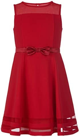 Calvin Klein Girls Sleeveless Party Dress Cherry 8 product image