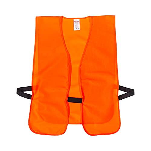 Allen Company Blaze Orange Hunting and Safety Vest, for Adult Men/Women, Youth, XL Adult Big Man (Adjustable Fitting to 38-48 in, 26-36 in, Up to 60 in Chest Size), 3.84 oz