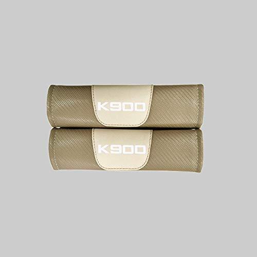 ZXCV 2 Fundas Coche Almohadillas Cinturón Fibra Carbono, para KIA K900 Hombro Correa Protector Seguridad con Logo Auto Interior Accesorios