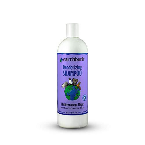 Earthbath Deodorizing Dog Shampoo, Mediterranean Magic with Rosemary, 16 oz – Best Shampoo for Smelly Dogs – Made in USA