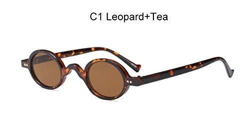 TYJYY Sunglasses Damesshorts, rond, klein, vintage, transparant, roze, ovaal, zonnebrillen voor heren, Steampunk, merk volwassenen