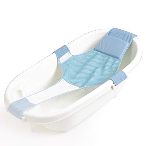 IWILCS Badewannensitz Baby, kreuzförmig Badewanne Unterstützung Badezubehör antirutsch für Neugeborenen oder Kleinkind (blau)