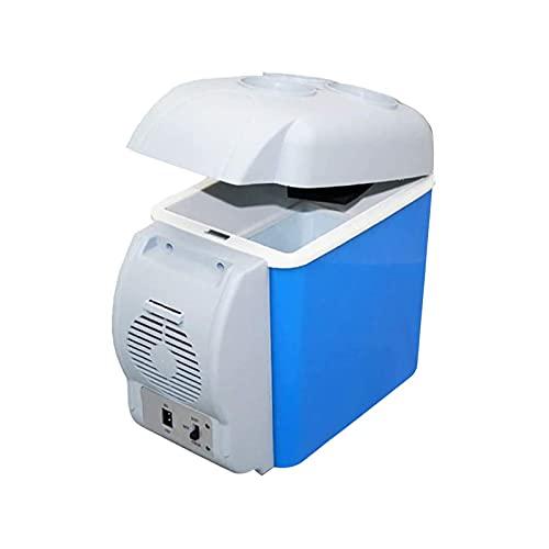 HENGSEN Kühlschrank Auto Kühlkasten, Tragbar 7,5 Liter Elektrischer Kühlbox Komplette Kühlschrank Stehend Kühlschrank Für Auto, Innenraum, Camping,Blau
