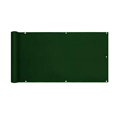 FANGJIE Protección de Privacidad 1.2x7m Resistente al Viento y al Agua Transpirable Balcón Privacidad con Cierre de Cuerda para terraza balcón Protector, Verde