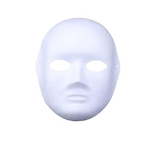 Meimask 10pcs Bricolaje Papel Blanco máscara de Pulpa en Blanco máscara Pintada a Mano Personalidad Creativa máscara de diseño Libre Mujeres