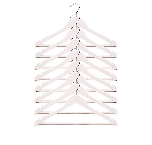 Ikea Bumerang Kleiderbügel, Holz, Weiß, 8 Stück
