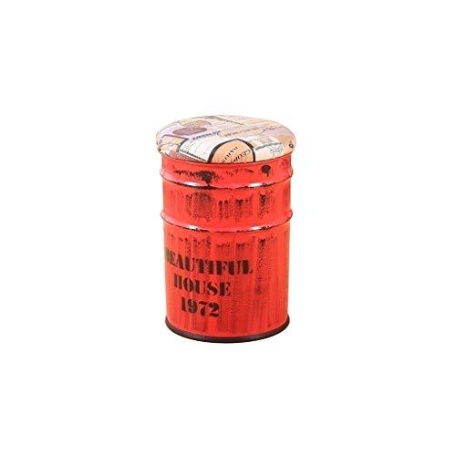 Qiansejiyijiajudengzi Cubo de Almacenamiento de Las heces Bar Pintura Silla Tabla Cubo Sofá del Hierro Redondo de Cubo 30 × 30 × 45cm 5 Opciones (Color : B, Size : 30×30×45CM)