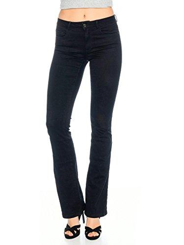 ONLY Damen Onlroyal Reg Sk Sweet Flared Pim600 Noos Jeanshose, Schwarz (Black), 34/L34 (Herstellergröße: XS)