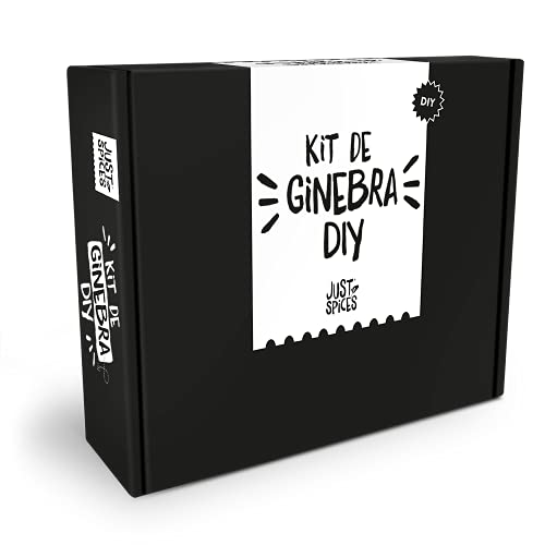 Just Spices Set de Gin I Gin DIY - 15 Botánicos y Especias + Instrucciones I Set de Regalo para Hombres y Mujeres I Kit de Construcción de Gin Tonic
