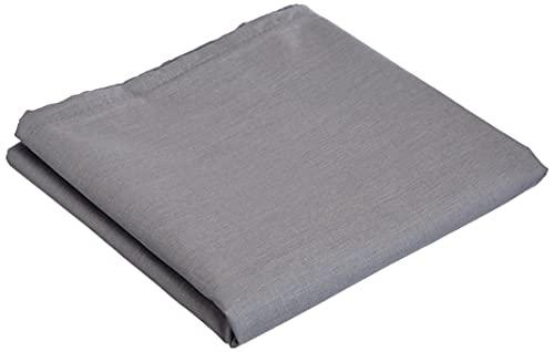 douceur d'intérieur 1640721 Taie de Traversin Uni Coton + Point Bourdon 57 Fils Gris Souris 185 x 85 cm