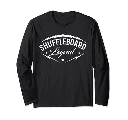 Shuffleboard Leyenda – Shuffleboarding jugador del equipo divertido regalo Manga Larga
