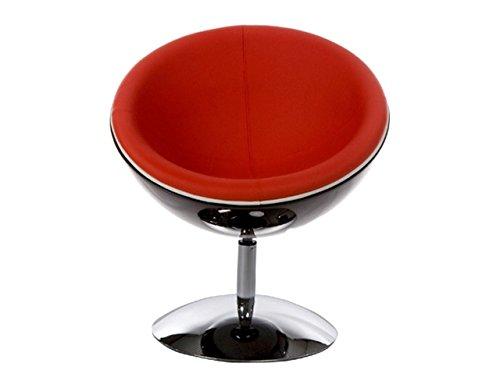 Kokoon Design Poltrona Girevole Imbottita in Ecopelle Rosso