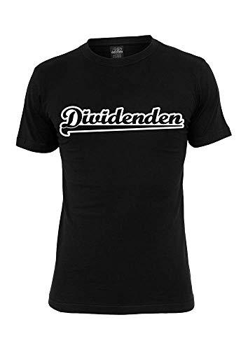 Dividende - Fun T-Shirt - Herren, Damen, Kinder - Investieren - finanzielle Freiheit - Geld - Aktien - Kapitalismus - Größe: S-XXXXL - Farbe: schwarz & weiß - Part of Amazon Handmade