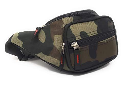 Riñonera Camuflaje Militar Deporte Aire Libre Caza Pesca (Verde Oscuro)