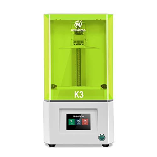 Mingda - Stampante 3D per fotocurazione UV con display HD 2K, filtro dell'aria con schermo a colori Smart Touch da 3,5', dimensioni di stampa 119 x 67 x 160 mm, colore: Verde