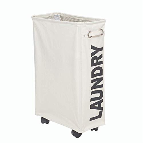 Madeinely Cesta para la ropa sucia con ruedas, organizador para la ropa sucia para la casa