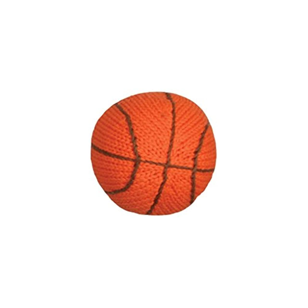 Zubels Baby Hand-Knit Bill The Basketball Rattle Toy, All-Natural Fibers, Eco-Friendly, 100% Cotton