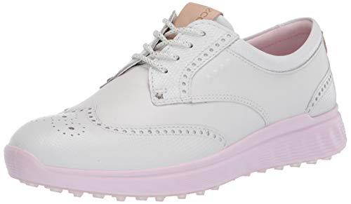 ECCO Women's S-Classic Hydromax Golf Shoe, White, 10-10.5