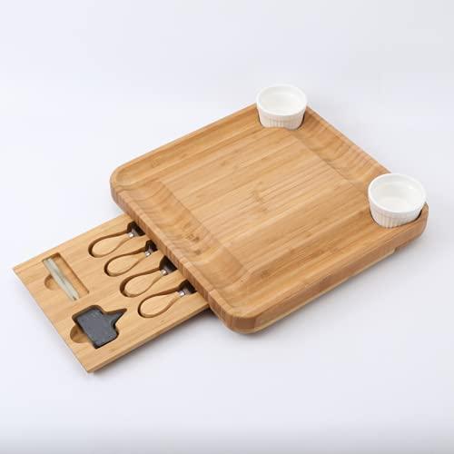 Tabla de Quesos Bambú (incluye utensilios) - Origami Home