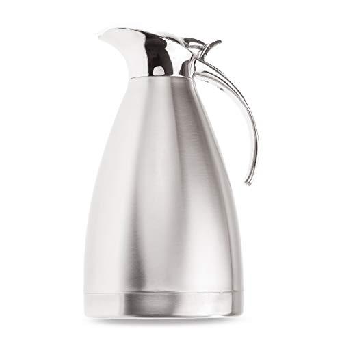 Thermoskanne 1,5l - Jede Kaffee-Pause wird zum perfekten Genuss-Moment - Isolierkanne Edelstahl bruchsicher, spülmaschinenfest - Doppelwandige Kaffeekanne Thermo mit Klappdeckel